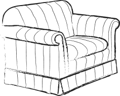 Single seater sofa sketch